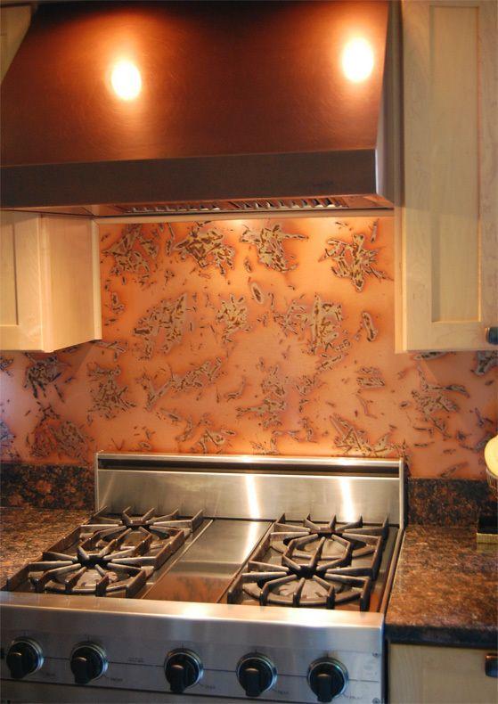 Copper Backsplash Copper Kitchen Backsplash