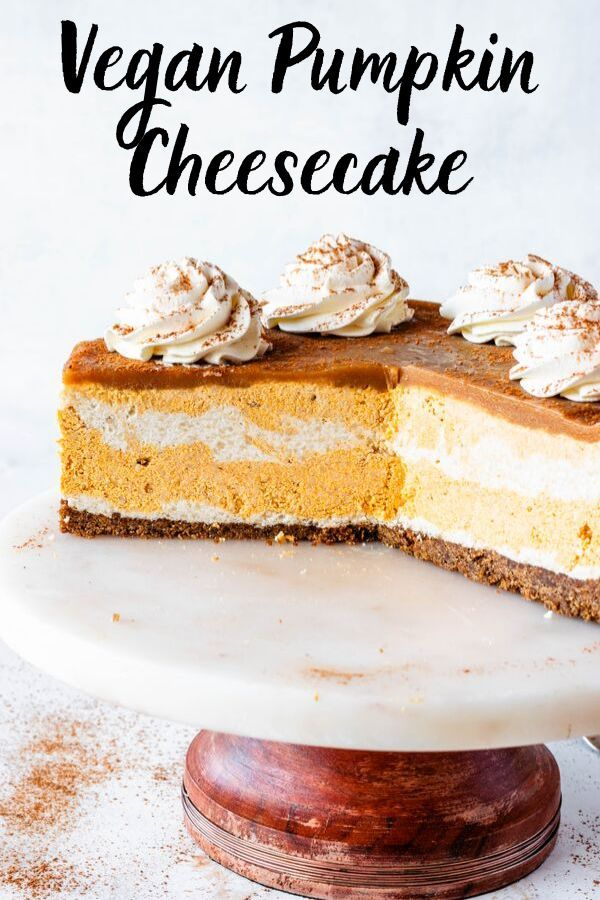 Vegan Pumpkin Cheesecake Recipe Pumpkin Cheesecake Vegan