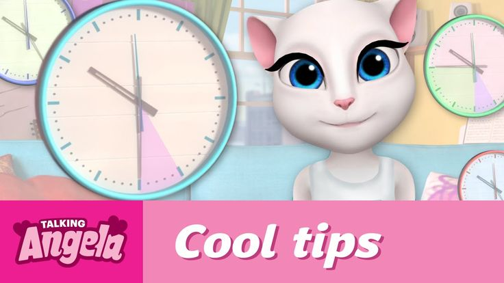 Talking Angela's Cool Tips - How to Be on Time xo, Talking Angela #TalkingAngela #LittleKitties #MyTalkingAngela #video #YouTube #tips #late #ontime
