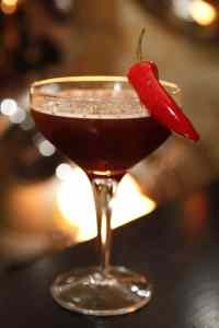 Chocolate chili pepper martini- Cocktail Club sells one of these, and ...