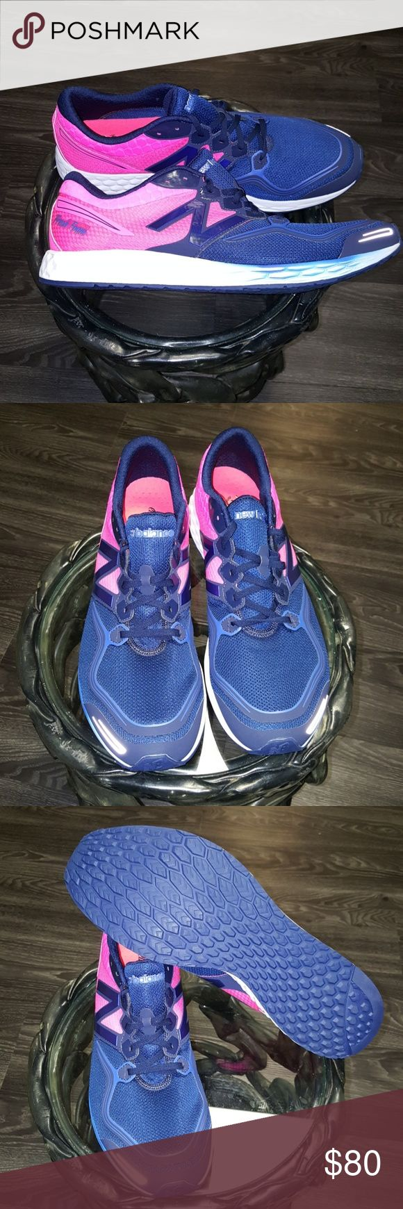 Men's New Balance Superior quality men's New Balance  Blue and pink lightweight running shoes Sz.16 New Balance Shoes Sneakers