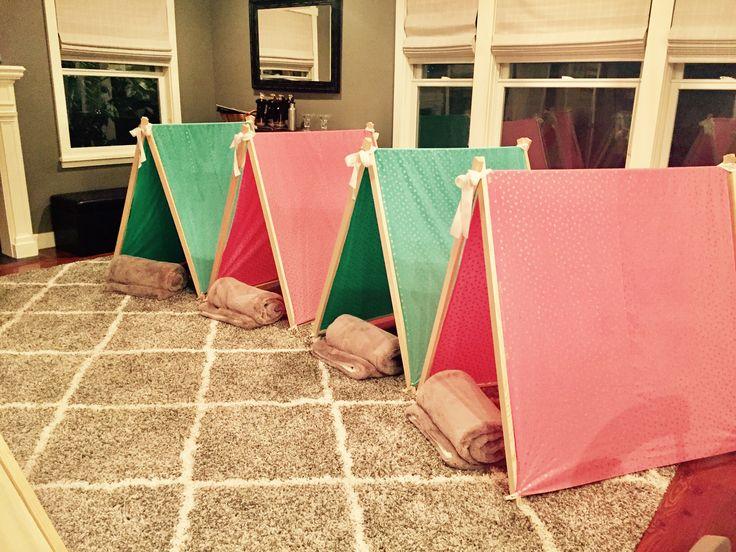 11 year old girl tween glamping slumber party tents take