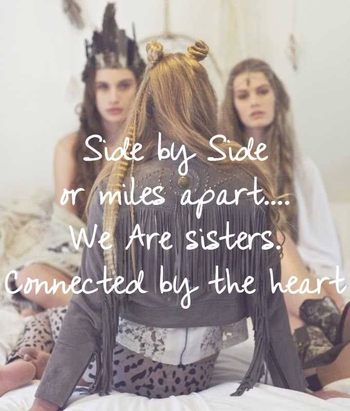 Sisters connected by heart