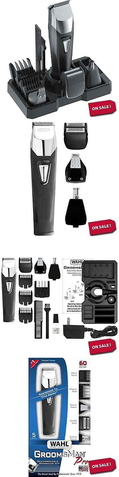 Clippers and Trimmers: Wahl Rechargeable Men Grooming All In 1 Hair Beard Mustache Trimmer Kit New BUY IT NOW ONLY: $39.96