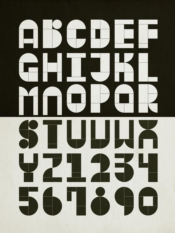 Modular Typography by Antonio Rodrigues Jr, via Behance