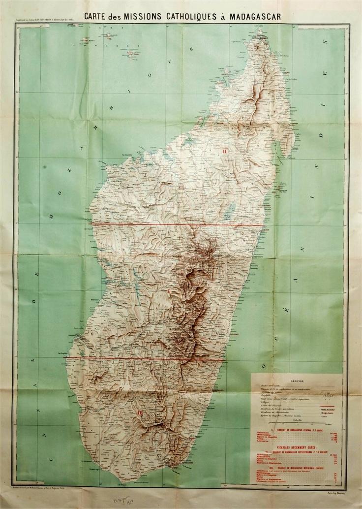 Madagascar UNE CARTOGRAPHIE MISSIONNAIRE 372 best