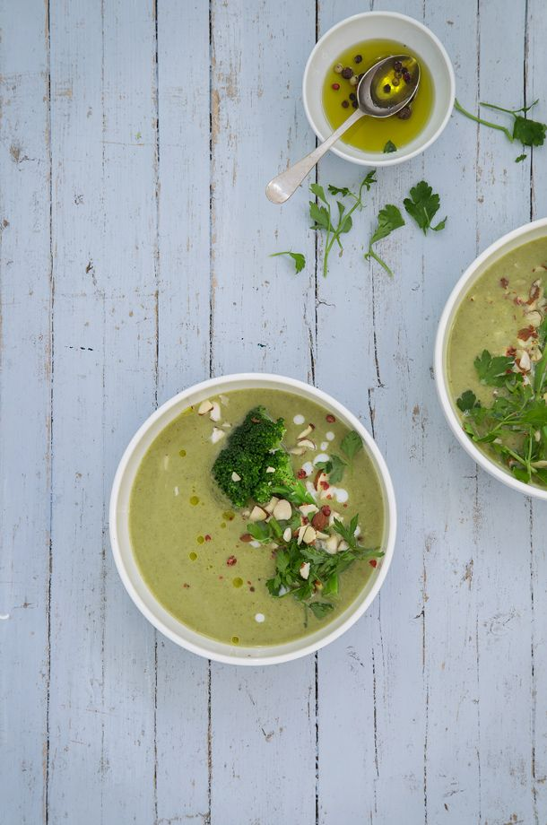 Broccoli, fennel and coconut milk soup   FOOD AND COOK