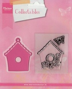 COL1308 Collectables Birdhouse flowers