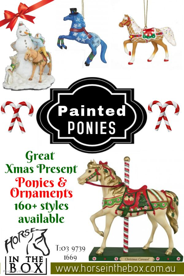 NEW Painted ponies and ornaments for Christmas are available. It's a great Chirstmas present idea for all horse lovers. Painted ponies from $64.95 and ornaments only from $26.95 at https://www.horseinthebox.com.au/ Feel free to contact us via phone: (03) 9739 1669 or visit our shop at 17 Lawler Lane, Coldstream
