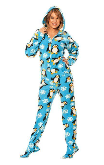 Penguin Footed #Pajamas