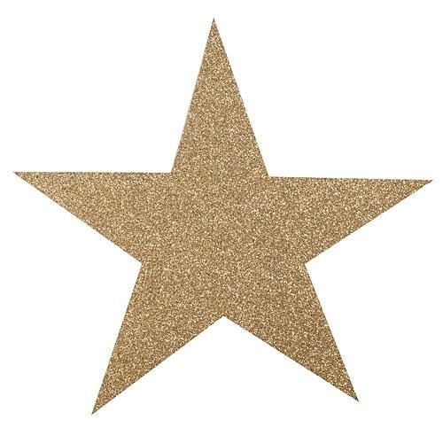 Gold Glittered Star Cut Outs