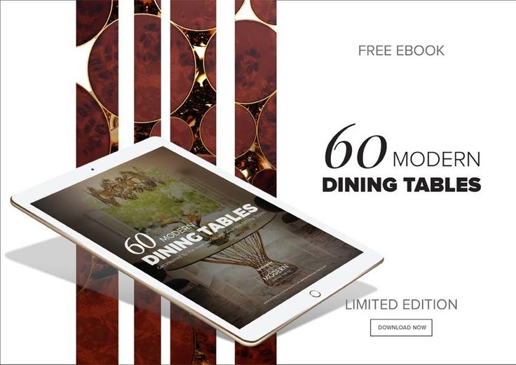 100 modern dining tables is the ultimate source of inspiration for interior designers who are looking for the perfect modern dining table to create a unique dining room set for that special client.
