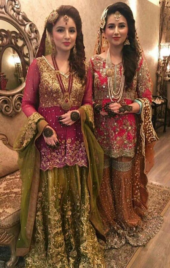 bridal mehndi dresses designs