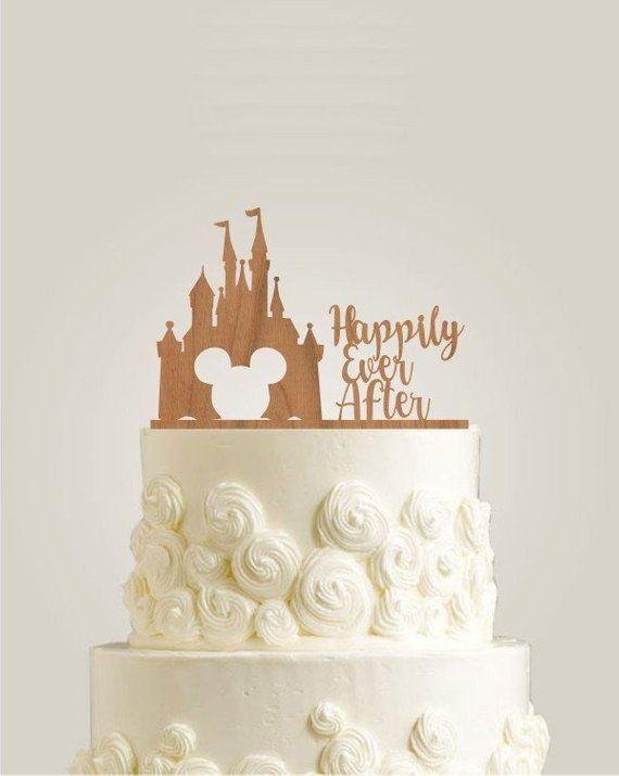 Glücklicherweise immer nach Cake Topper, Castle Cake Topper für Hochzeit, Disney Wedding C …   – Products