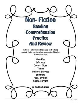 Non-Fiction Reading Comprehension Practice and Review