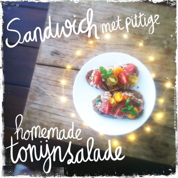 Recepten   Spelt sandwich met pittige tonijnsalade ♥ Loved by www.miekinvorm.nl    illustration + design