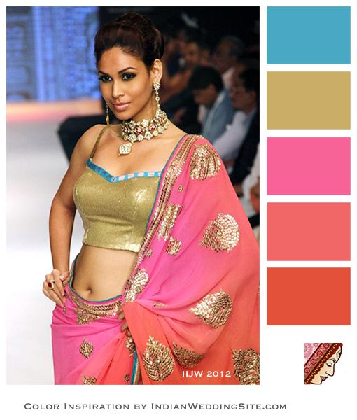 Summer Indian Wedding Colors Inspiration on IndianWeddingSite.com