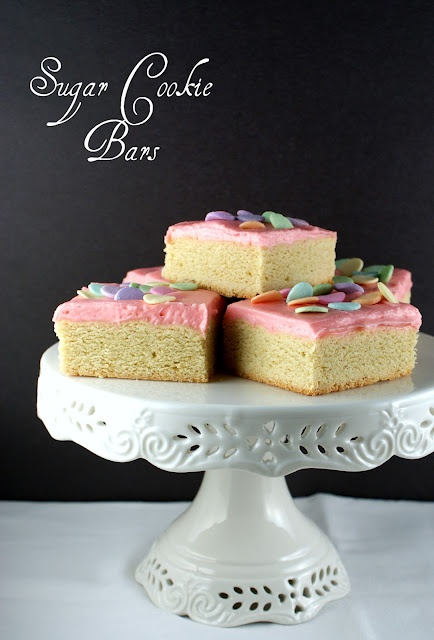 Sugar Cookie Bars - made these last week and LOOOOOVED them!! Will make again, and often!!
