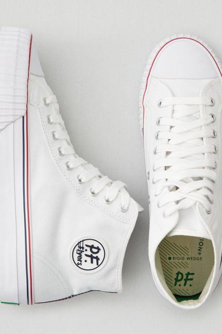 AEO PF Flyers Center Hi Sneakers, Men's, Size: 8, White