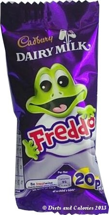 Cadbury Dairy Milk Milk Chocolate Freddo Bar - 95 calories