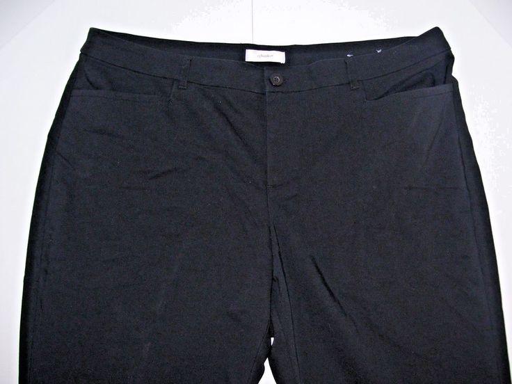 CJ Banks Womens Black Slacks Size 20W 31L Career Pants Stretch #CJBanks #DressPants #Career