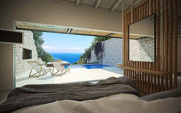 Emerald Suites - Luxury Villas in Zakynthos Greece with private pool, perfect dream vacation. Agios Nikolaos Beach in Volimes at Zakynthos (Zante)