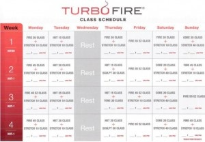 Turbo Fire Schedule « week 1 to 4 | TUrBO FIre MOtiVAtiONs | Pintere ...