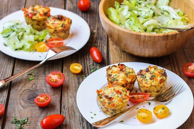food geek: Мини-омлеты с картофелем, сыром, беконом и болгарс...