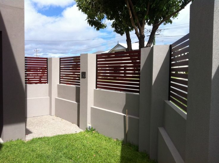 modern brick fence design idea id gate fencing pinterest to be fence design and bricks - Brick Wall Fence Designs