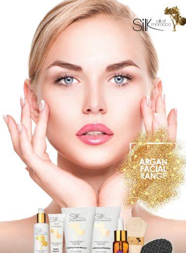 Silk Oil of Morocco Skincare Range.  Cleanser, Exfoliator, Argan Oil etc Visit: http://www.esilkcosmetics.com