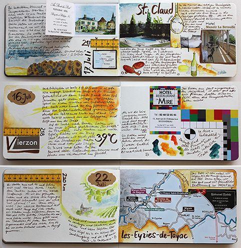 Mein letztes Reisetagebuch mit Aquarellfarben, washi-tape und Aufklebern zeige ich in meinem Blog. DIY