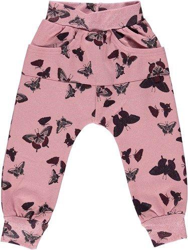 Sweat bukser med sommerfugle false true