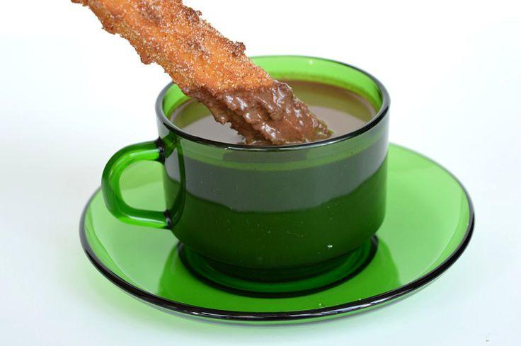 Pumpkin Spiced Spanish Hot Chocolate - Dipped Churro 3 by This Fox ...