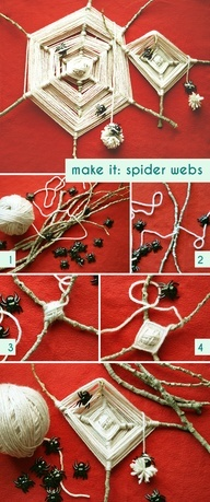 DIY Kids Craft - Make your very own spider web!