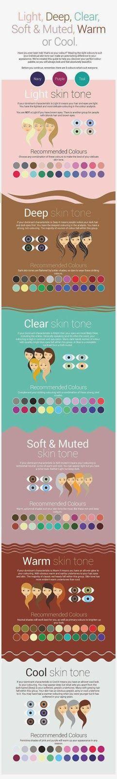 Qué colores van con mi piel? | Skin Color Makeup Chart
