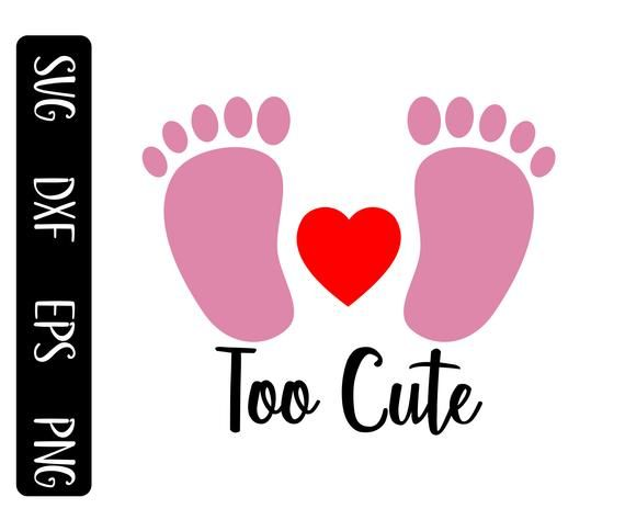 Too Cute Svg Pink Baby Footprints Svg Gender Reveal And Baby Shower Shirt Design For Kid Wo Pink Baby Shower Decorations Baby Shower Flowers Baby Shower Shirts