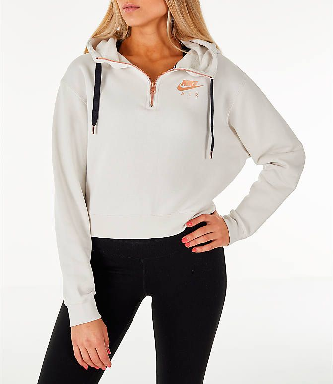 Front view of Women's Nike Sportswear Air Crop Half Zip