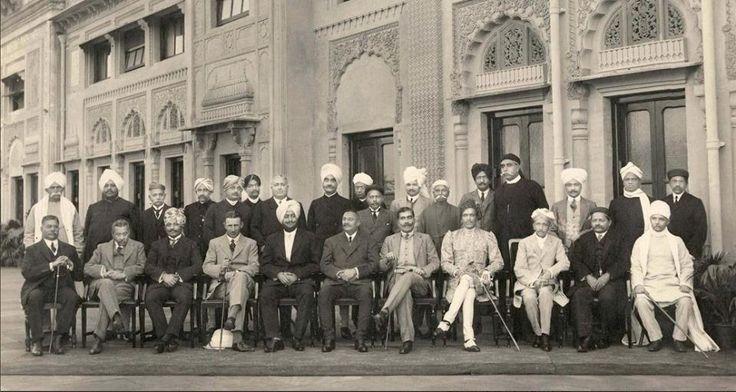 (L to R) Sitting 3. HH The Nawab Saheb Sir Taley Muhammedkhanji of Palanpur. 5…