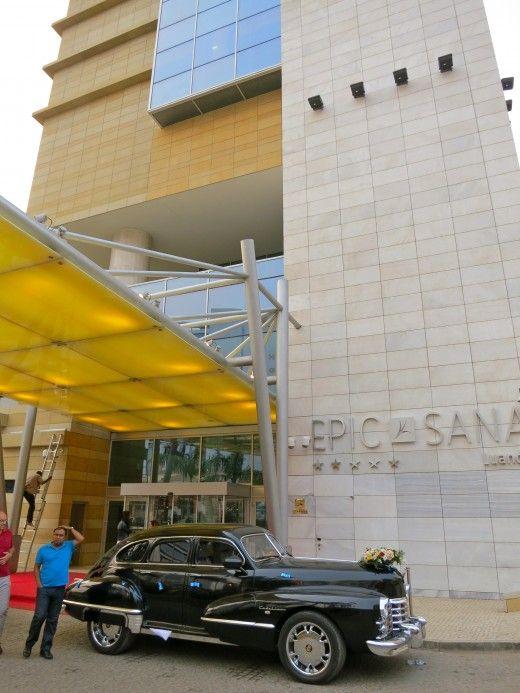 The entrance to Epic Sana in Luanda