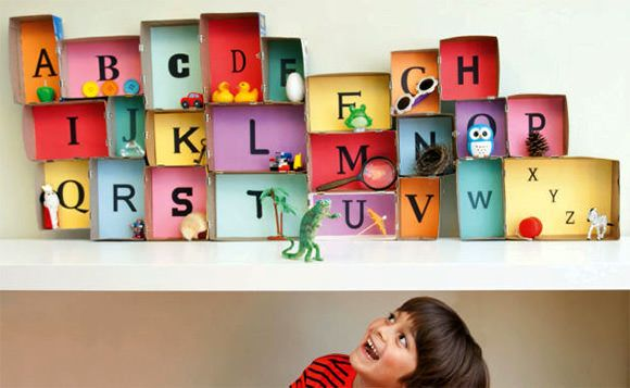 Build an alphabet museum to let your child associate letters an objects