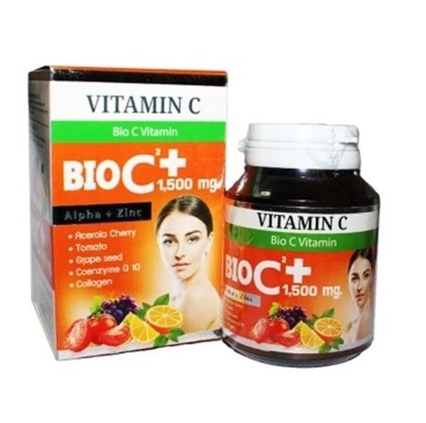 1,500 Mg Bio C Vitamin Alpha Zinc Antioxidant Smooth Skin