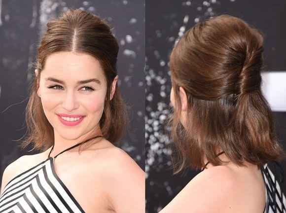 -e simples- o penteado usado pela atriz no tapete verm