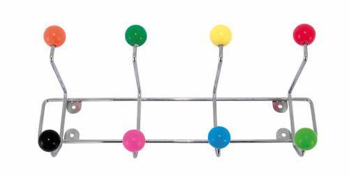 Multi-Coloured Coat Hook - Coat Hooks | Coat Racks | Handbag Hooks | Key Hooks | Hallway Hangers