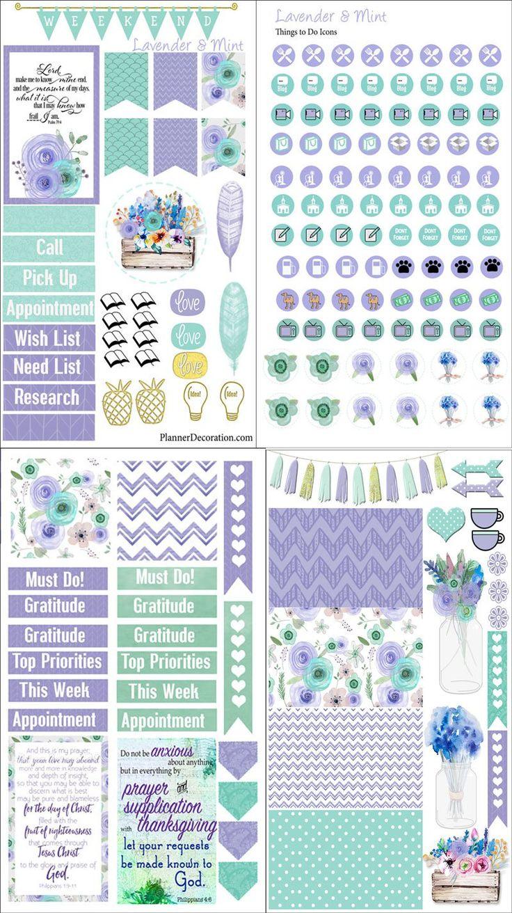 Scrapbook ideas printable - Lavender Mint Preview 4