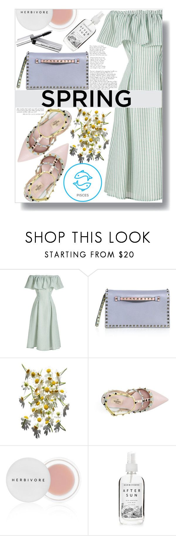 """March Horoscope: Spring Dresses (Pisces)"" by sc-styles ❤ liked on Polyvore featuring Rejina Pyo, Valentino, Herbivore and Bobbi Brown Cosmetics"