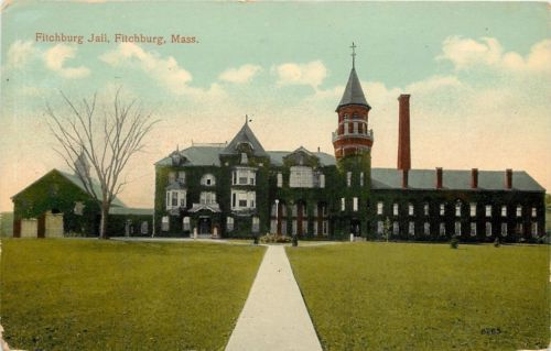 Fitchburg #massachusetts~old #victorian #jail~towers~turret~cupola~garage~1908 pc,  View more on the LINK: http://www.zeppy.io/product/gb/2/302098382625/