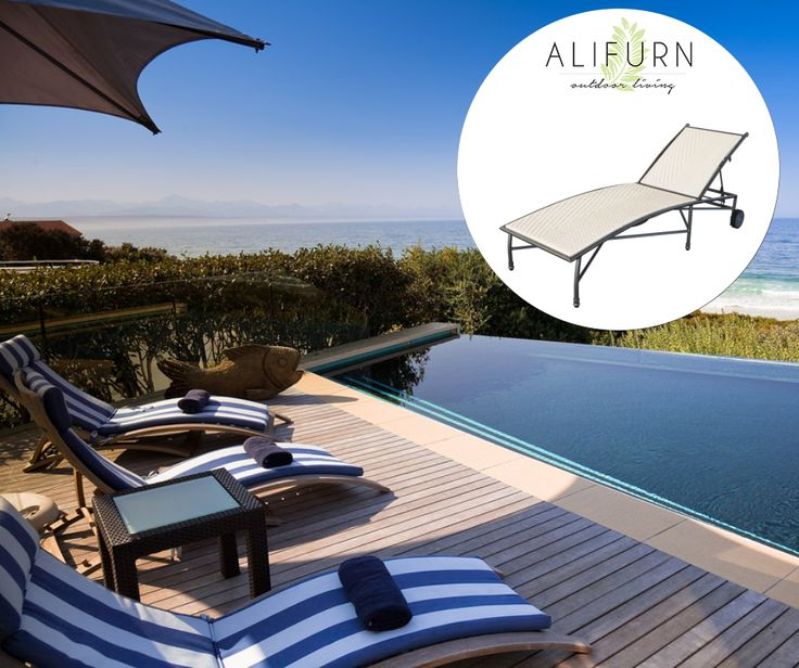 Looking for a functional but beautiful sun lounger? The Lily Sun Lounger will look fantastic by your poolside… #OutdoorFurniture #PimpMyPatio  http://www.alifurn.co.za/product/lilly-sun-lounger/