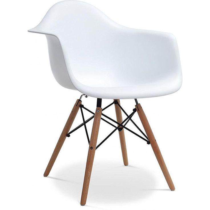 DAW Chair Charles Eames Style Polypropylene Matt White