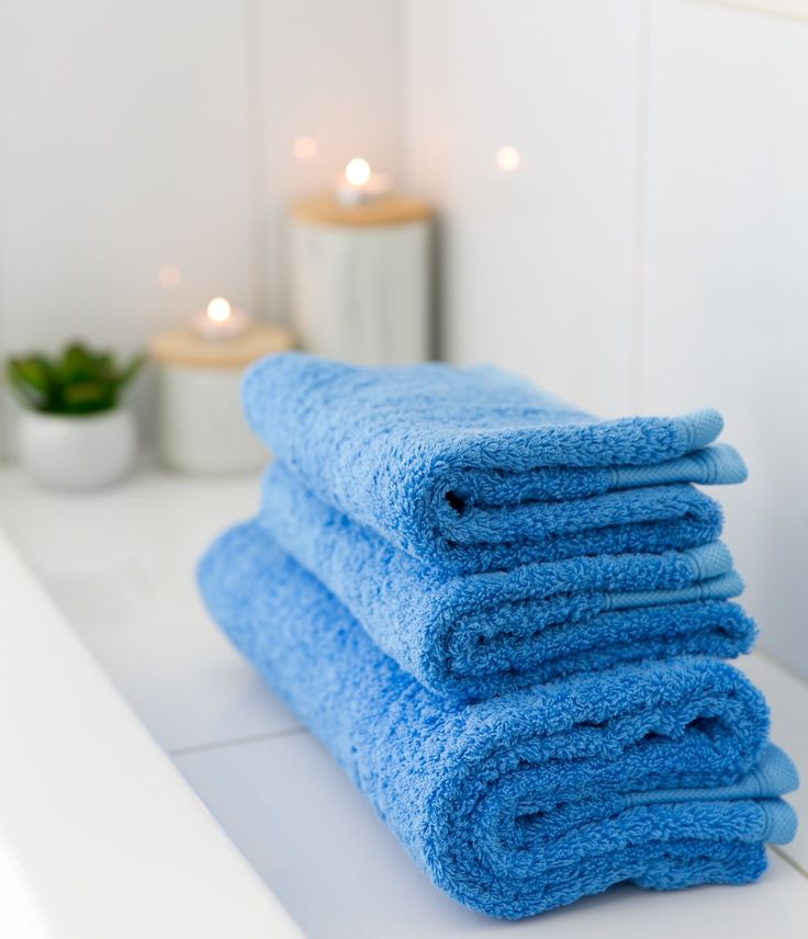Marine Blue bath and hand towels