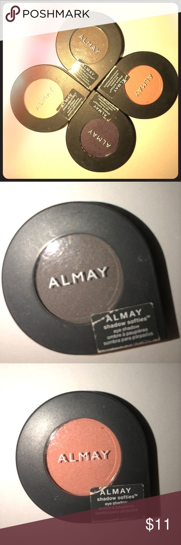 Almay eyeshadow bundle Brand new eye shadows  135 peach fuzz 140 vintage grape 155 cashmere  150 smoke Original price  $4.97 each Almay Makeup Eyeshadow